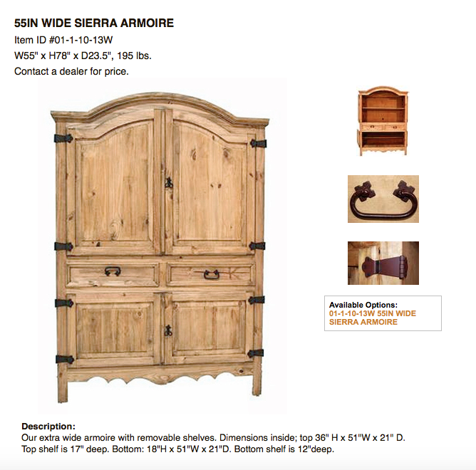 Armoires Discount Rustic Furniture
