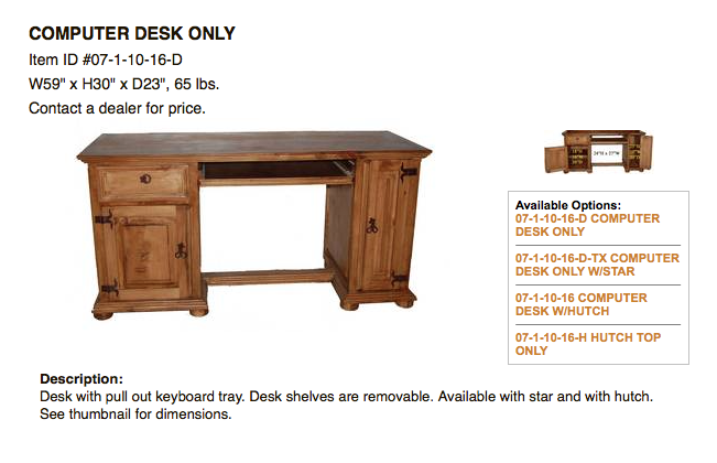 Office Discount Rustic Furniture