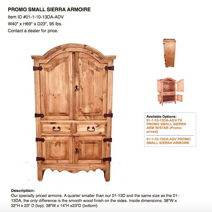 Armoires Rustic Furniture, Alvin Texas Rustic Furniture