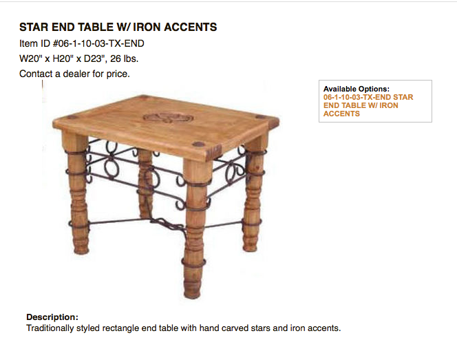 End Tables Discount Rustic Furniture