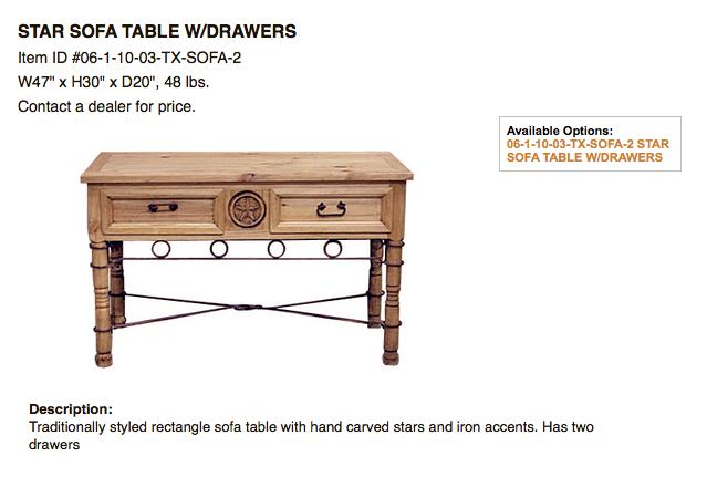 Rustic Furniture Baytown Accent Pieces – Discount Rustic Furniture