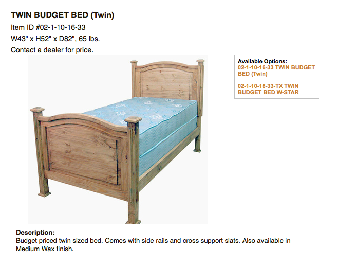 Youth Beds Discount Rustic Furniture